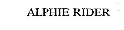 ALPHIE RIDER