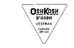OSHKOSH B'GOSH VESTBAK GENUINE ARTICLE