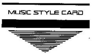 MUSIC STYLE CARD