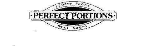 PERFECT PORTIONS F.R.O.Z.E.N F.O.O.D.S M.E.A.T S.H.O.P.S