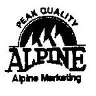 PEAK QUALITY ALPINE ALPINE MARKETING