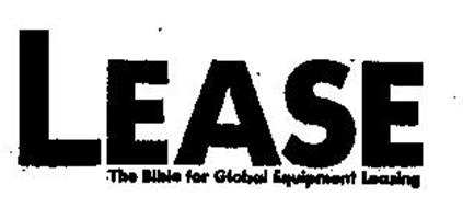 LEASE THE BIBLE FOR GLOBAL EQUIPMENT LEASING