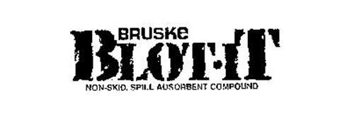 BRUSKE BLOT-IT NON-SKID, SPILL ADSORBENT COMPOUND
