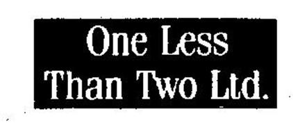 ONE LESS THAN TWO LTD.