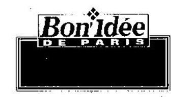 BON' IDEE DE PARIS Trademark of Lesieur Alimentaire Serial Number