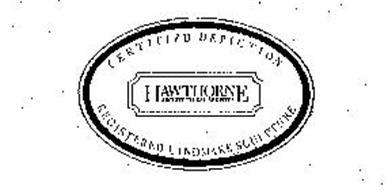 HAWTHORNE ARCHITECTURAL REGISTER CERTIFIED DEPICTION REGISTERED LANDMARK SCULPTURE