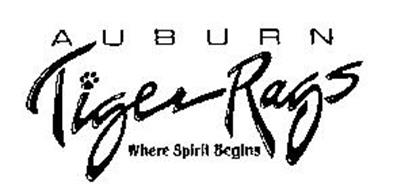 A U B U R N TIGER RAGS WHERE SPIRIT BEGINS