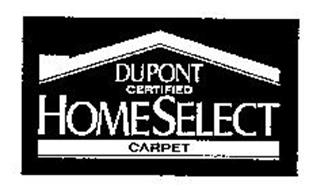 DUPONT CERTIFIED HOME SELECT CARPET