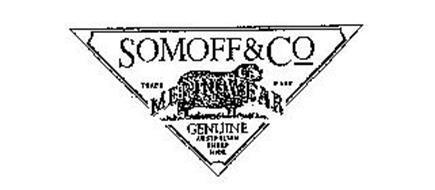SOMOFF & CO MERINOWEAR GENUINE AUSTRALIAN SHEEP HIDE TRADE MARK