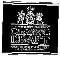 PBC PITTSBURGH BREWING COMPANY CLASSIC DRAFT PREMIUM DRAFT STYLE BEER PASTEURIZED