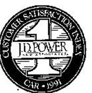 J.D. POWER AND ASSOCIATES CUSTOMER SATISFACTION INDEX CAR 1991