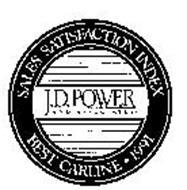 J.D. POWER AND ASSOCIATES SALES SATISFACTION INDEX BEST CARLINE 1991