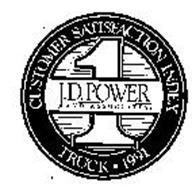 J.D. POWER AND ASSOCIATES CUSTOMER SATISFACTION INDEX TRUCK 1991