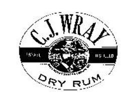 C.J. WRAY DRY RUM ESTATE DISTILLED WRAY & NEPHEW FOUNDER ESTABLISHED 1825