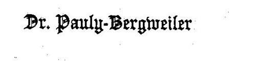 DR. PAULY-BERGWEILER