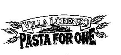 VILLA LORENZO PASTA FOR ONE