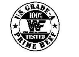 U.S. GRADE-A PRIME BEEF 100% WF WORLD WRESTLING FEDERATION TESTED