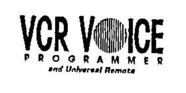 VCR VOICE PROGRAMMER AND UNIVERSAL REMOTE