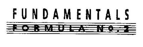 FUNDAMENTALS FORMULA NO. 2