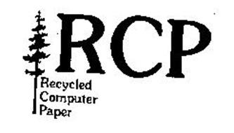RCP RECYCLED COMPUTER PAPER