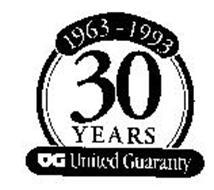 1963-1993 30 YEARS UG UNITED GUARANTY