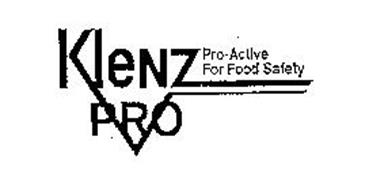 KLENZ PRO PRO-ACTIVE FOR FOOD SAFETY