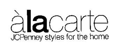 ALACARTE JCPENNEY STYLES FOR THE HOME