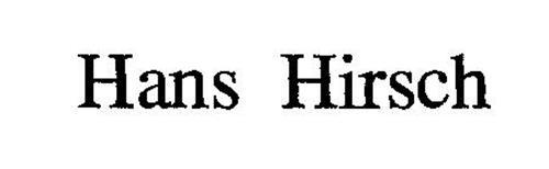 HANS HIRSCH