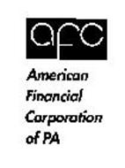 AFC AMERICAN FINANCIAL CORPORATION OF PA