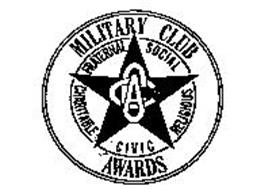 CCA MILITARY CLUB AWARDS FRATERNAL SOCIAL RELIGIOUS CIVIC CHARITABLE