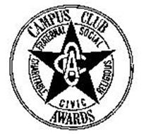 CCA CAMPUS CLUB AWARDS FRATERNAL SOCIALRELIGIOUS CIVIC CHARITABLE