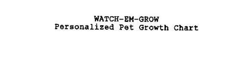 WATCH-EM-GROW PERSONALIZED PET GROWTH CHART
