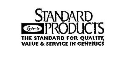 LEDERLE STANDARD PRODUCTS THE STANDARD FOR QUALITY, VALUE & SERVICE IN GENERICS