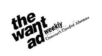 THE WANT AD WEEKLY CONSUMER'S CLASSIFIED ADVERTISER