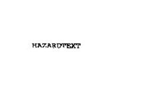 HAZARDTEXT