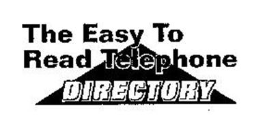 THE EASY TO READ TELEPHONE DIRECTORY