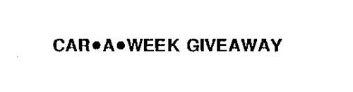 CAR-A-WEEK GIVEAWAY