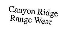 CANYON RIDGE RANGE WEAR