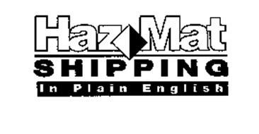 HAZMAT SHIPPING IN PLAIN ENGLISH