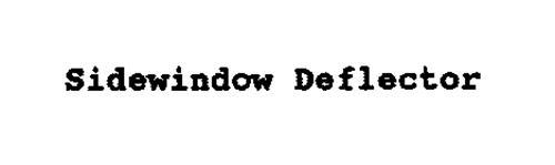 SIDEWINDOW DEFLECTOR