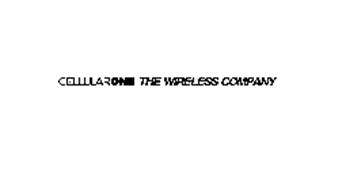 CELLULARONE THE WIRELESS COMPANY
