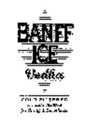 BANFF ICE VODKA COLD FILTERED A TRIPLE DISTILLED FOR PURITY & SMOOTHNESS
