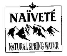 NAIVETE NATURAL SPRING WATER