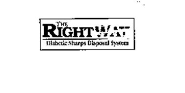 THE RIGHT WAY DIABETIC SHARPS DISPOSAL SYSTEM