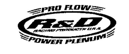 PRO FLOW POWER PLENUM R&D RACING PRODUCTS U.S.A.