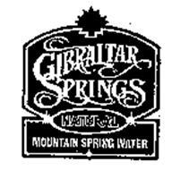 GIBRALTAR SPRINGS NATURAL MOUNTAIN SPRING WATER