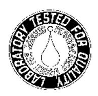 LABORATORY TESTED FOR QUALITY, PERFORMANCE TESTED FOR RESULTS
