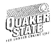 Q QUAKER STATE FOR LONGER ENGINE LIFE