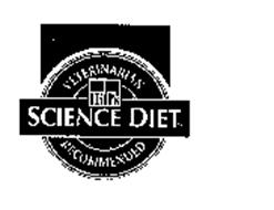 VETERINARIAN SCIENCE DIET RECOMMENDED HILL'S