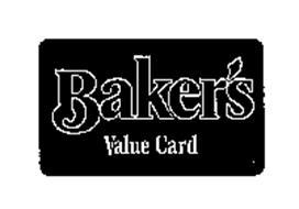 BAKER'S VALUE CARD